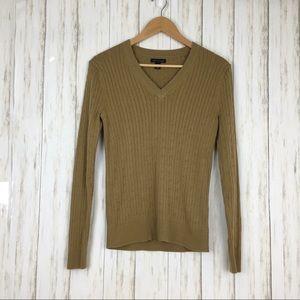 Tommy Hilfiger V Neck Cable Knit Sweater